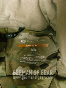 Crye Precision Loft Jacket Logo