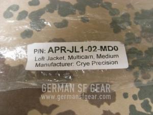 Crye Precision Loft Jacket Verpackung